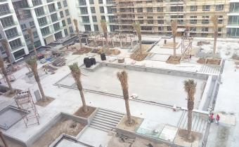 Podium hard landscaping works, March 2019