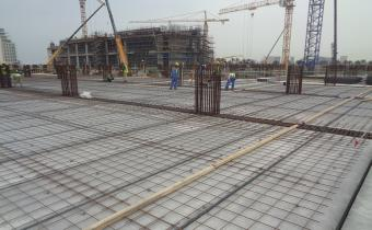 Ground floor concrete topping ongoing, April 2019