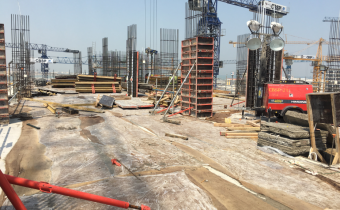Vida Service Apartment - Part 4 - Level 08 - Column Works Ongoing, August 2019