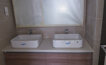 Wash Basin fixing at Building C, August 2019